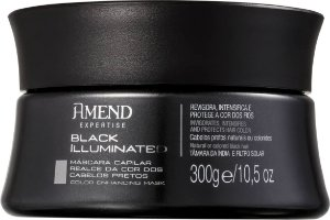 AMEND Black Illuminated Máscara Realce da Cor dos Cabelos Pretos 300g