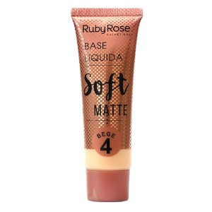 Ruby Rose Base Líquida Soft Matte HB-8050 Bege 4