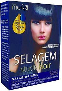 Muriel Studio Hair Selagem para Cabelos Pretos