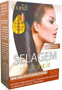 Muriel Studio Hair Selagem para Cabelos Castanhos Escuros