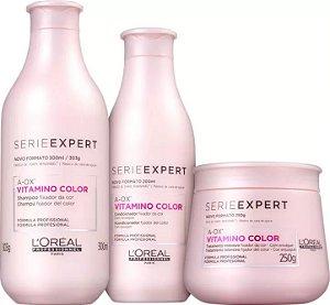 L'ORÉAL PROFESSIONEL Expert Vitamino ColorA-OX Shampoo 300ml + Condicionador 200ml + Máscara 250g