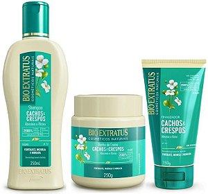 Bio Extratus Cachos & Crespos Shampoo 250ml + Banho de Creme 250g + Finalizador 150g