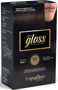 ACQUAFLORA Coloração Permanente Hidra Gloss 5.0 Castanho Claro