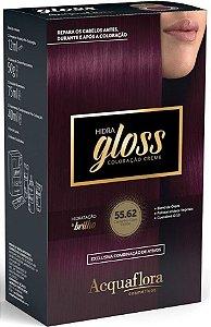 ACQUAFLORA Coloração Permanente Hidra Gloss 55.62 Castanho Claro Violine