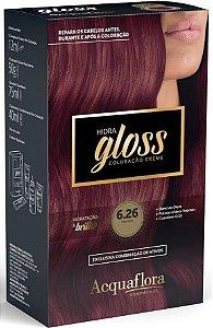 ACQUAFLORA Coloração Permanente Hidra Gloss 6.26 Marsala