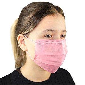 SANTA CLARA Máscara Descartável Não Tecido com Elástico Rosa 5un (5015)