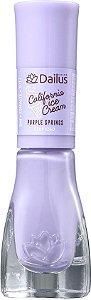 DAILUS Esmalte Coleção California Ice Cream Vegan Cremoso Purple Springs