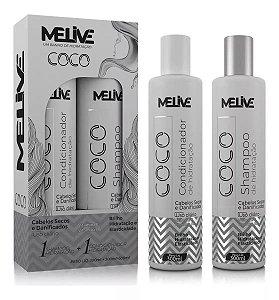 MELIVE Coco Kit Shampoo + Condicionador de Hidratação 300ml
