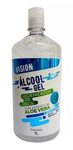 VISION Álcool Gel 70% Higienizador de Mãos com Aloe Vera 1l