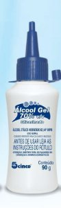 5Cinco Álcool Gel 70% Glicerinado 90g