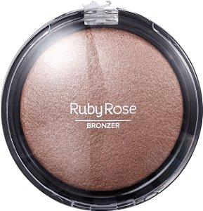 Ruby Rose Pó Facial Bronzeador Bronzer HB-7213 03 Gold
