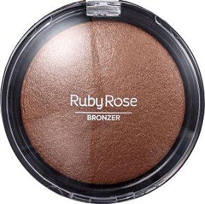 RUBY ROSE Pó Facial Bronzeador Bronzer HB-7213 05 Marrom Gold