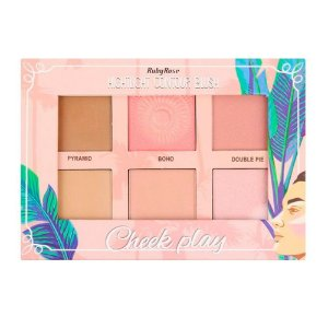 RUBY ROSE Paleta Hightlight Contour Blush Cheek Play HB-7502
