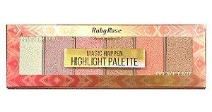 RUBY ROSE Paleta de Sombras Highlight Palette Magic Happen HB-7511