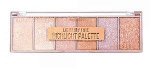 RUBY ROSE Paleta de Sombras Highlight Palette Light My Fire HB-7512