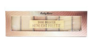 RUBY ROSE Paleta de Sombras Highlight Palette Shine Brighter HB-7510