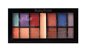 RUBY ROSE Paleta de Sombras Mini Kit HB-9985/11 Ardor