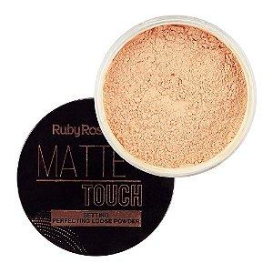 RUBY ROSE Pó Facial Matte Touch HB-7222 01 Light Neutral