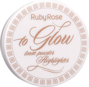 RUBY ROSE Pó Iluminador To Glow HB-7227 cor 6 Spicy