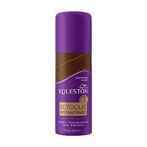 KOLESTON Retoque Instantâneo Castanho Claro Spray 57g