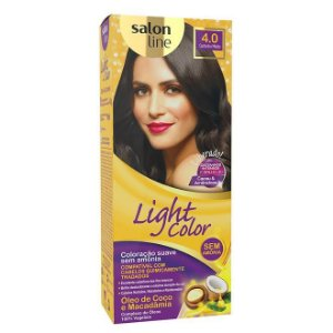 LIGHT COLOR Tonalizante 4.0 Castanho Médio