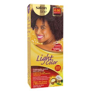 SALON LINE Light Color Tonalizante 4.66 Borgonha Intenso