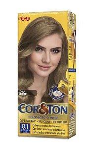 COR&TON Coloração Permanente 8.1 Louro Cinza Claro