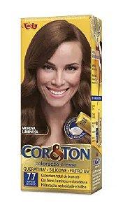 COR&TON Coloração Permanente 7.7 Marrom Dourado
