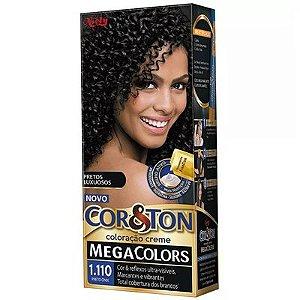 COR & TON Mini MegaColors Coloração Permanente 1.110 Preto Onix