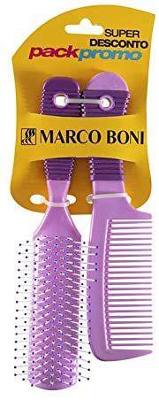 MARCO BONI Pente + Escova para Cabelo cores sortidas (1215)