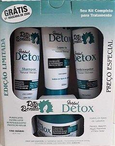 RITA BONITA Herbal Detox Kit Edição Especial Grátis Máscara Capilar 250g