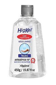 KELMA HigKel Gel Higienizante Antisséptico 70° Neutro 450g