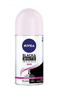 NIVEA Desodorante Antibacteriano Roll On Invisible Black & White Clear 50ml