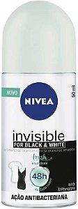 NIVEA Desodorante Roll On Invisible Black & White Fresh 50ml