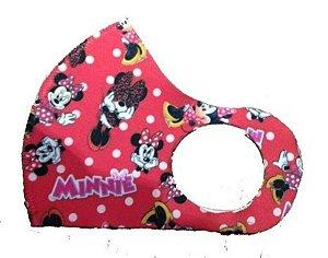 BELA CENTER Máscara Higiênica Lavável Infantil de Neoprene Minnie Vermelha