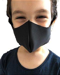 MERCÊ Máscara Higiênica Lavável Infantil em Neoprene Preto