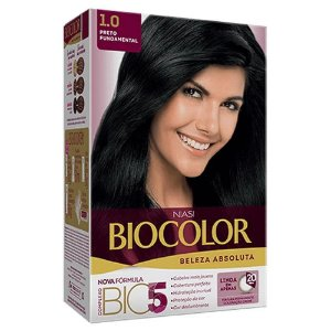 BIOCOLOR Coloração Permanente Kit 1.0 Preto Fundamental