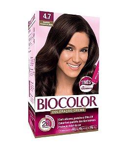 BIOCOLOR Coloração Permanente Kit 4.7 Marrom Escuro da Moda