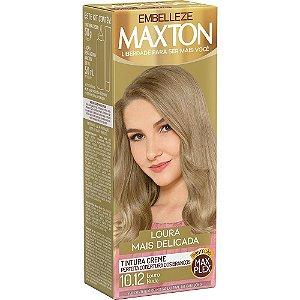 MAXTON Coloração Permanente Kit 10.12 Louro Nude Loura Mais Delicada