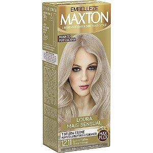 MAXTON Coloração Permanente Kit 12.11 Cinza Intenso