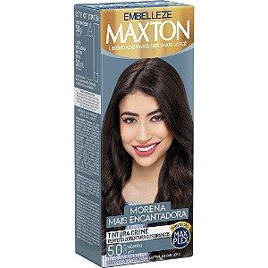 MAXTON Coloração Permanente Kit 5.0 Castanho Claro Morena Mais Encantadora