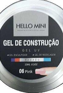 HELLO MINI Gel de Construção UV Padrão Pink 06 15ml
