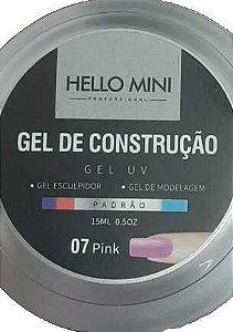 HELLO MINI Gel de Construção UV Padrão Pink 07 15ml