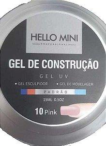 HELLO MINI Gel de Construção UV Padrão Pink 10 15ml