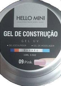 HELLO MINI Gel de Construção UV Padrão Pink 09 15ml