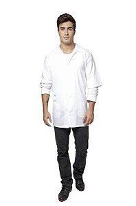 SANTA CLARA Jaleco Profissional Com Manga em Tecido Ref.035 Médio Branco (9800)