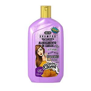 GOTA DOURADA Fortalecimento e Alinhamento de Cabelos Shampoo Cabelos com Escova 430ml