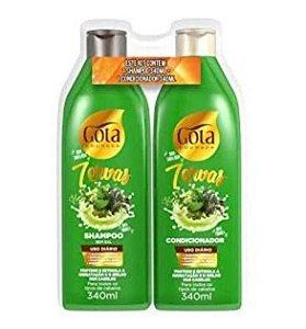 GOTA DOURADA 7 Ervas Shampoo + Condicionador 340ml