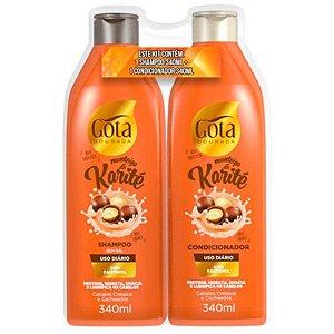 GOTA DOURADA Manteiga de Karité Shampoo + Condicionador 340ml