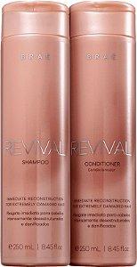 BRAÉ Revival Shampoo + Condicionador Reconstrutor 250ml